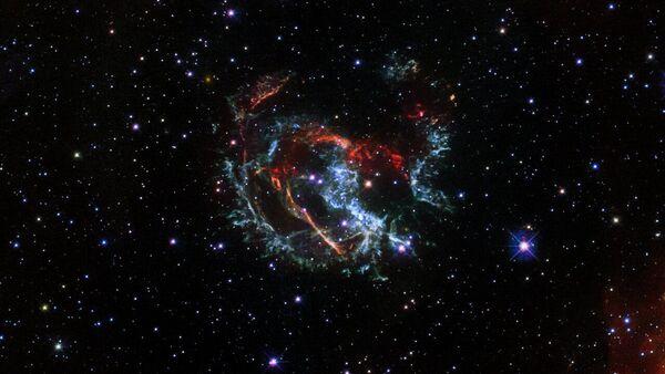 Una foto della supernova 1E 0102.2-7219, fatta con il telescopio spaziale Hubble  - Sputnik Italia