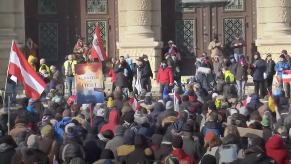 Austria: scettici del Covid protestano a Vienna - Sputnik Italia