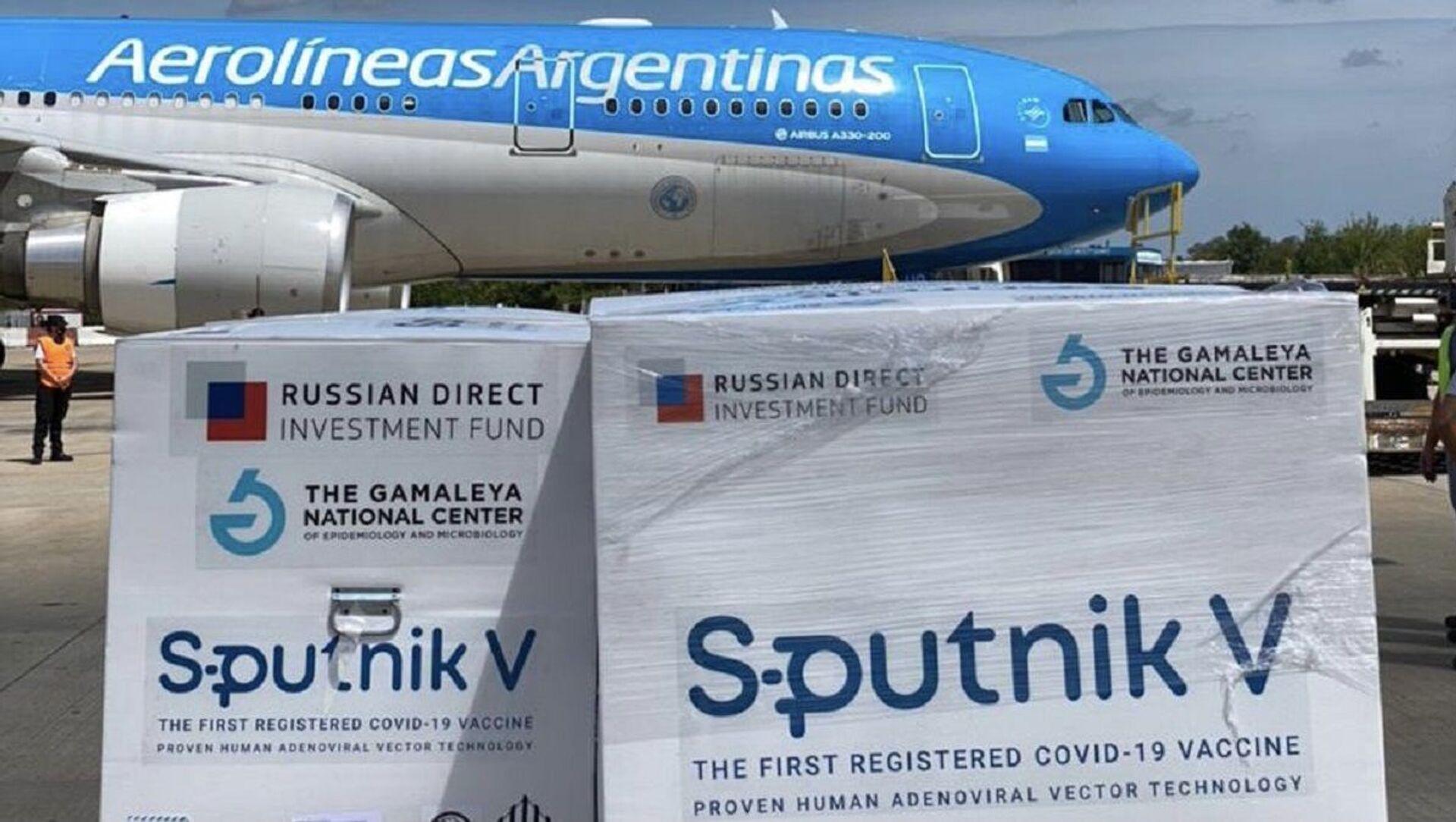 El avión con el segundo lote de vacuna rusa Sputnik V llega desde Moscú a Argentina  - Sputnik Italia, 1920, 19.03.2021