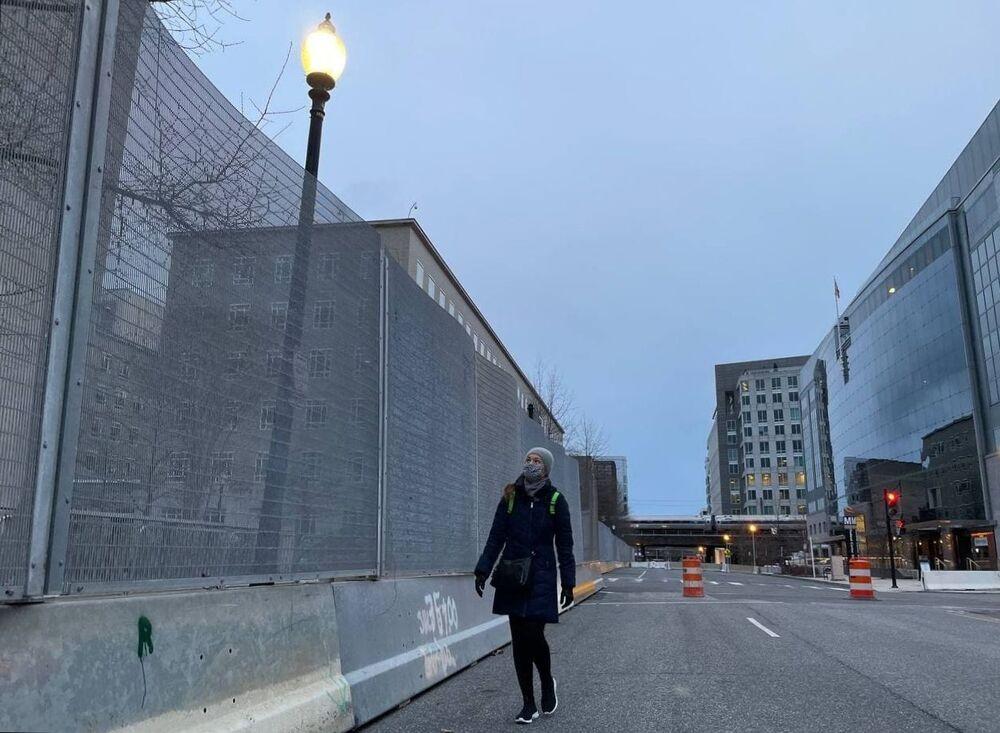 Strade chiuse a Washington in vista dell'inaugurazione di Joe Biden, USA
