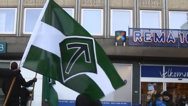 Flag of the neo-Nazi Nordic Resistance Movement. - Sputnik Italia