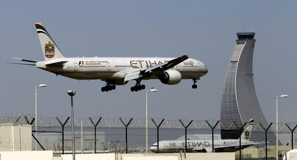Un aereo di Etihad Airways