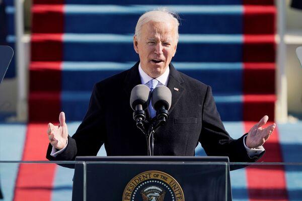 Joe Biden interviene durante la sua inaugurazione, il 20 gennaio 2021 - Sputnik Italia