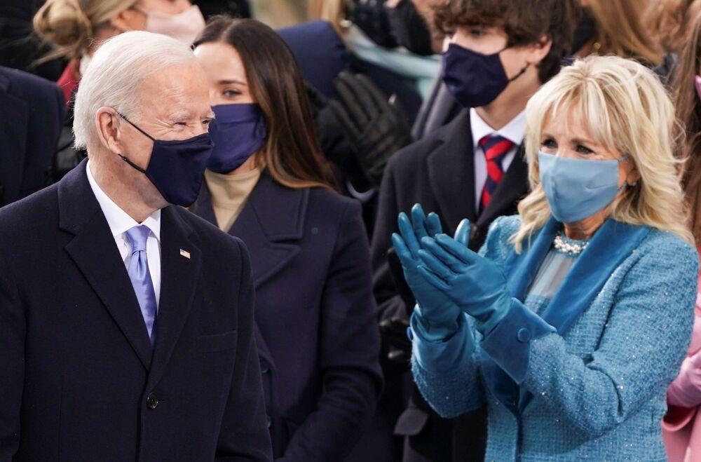 Joe e Jill Biden prima dell'inaugurazione,  il 20 gennaio 2021