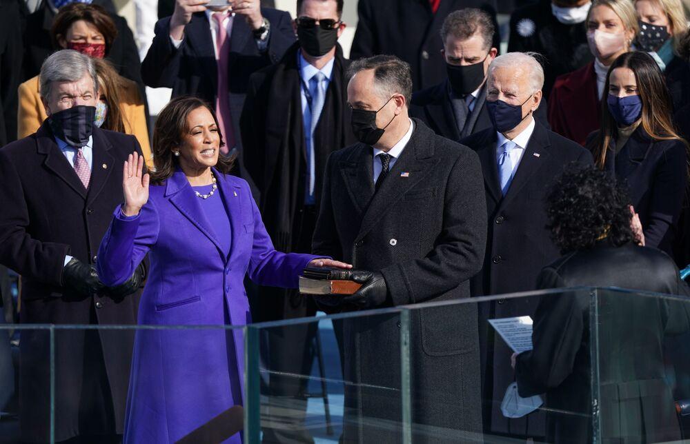 Kamala Harris ha prestato giuramento come Vice Presidente degli Stati Uniti, il 20 gennaio 2021