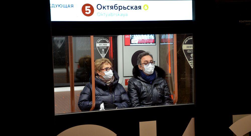 Coronavirus in Russia - Metropolitana di Mosca, gennaio 2021