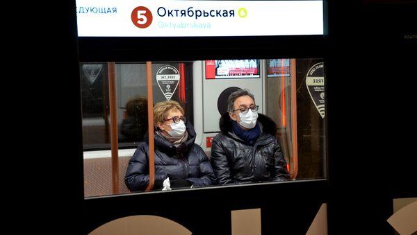 Coronavirus in Russia - Metropolitana di Mosca, gennaio 2021 - Sputnik Italia