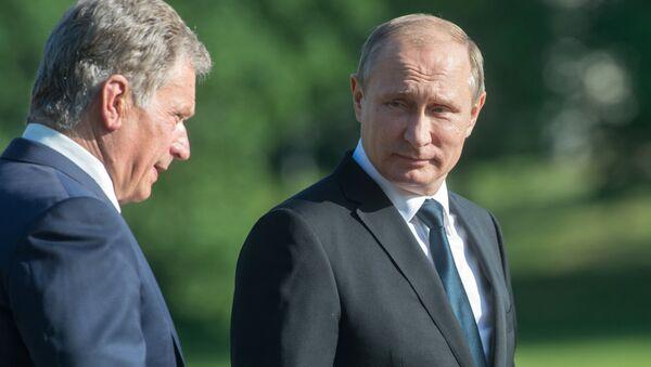 Presidente Vladimir Putin e Presidente della Finlandia Sauli Niinisto - Sputnik Italia