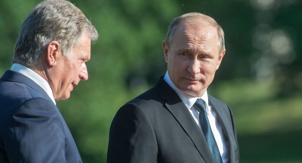 Presidente Vladimir Putin e Presidente della Finlandia Sauli Niinisto