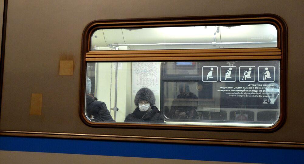 Coronavirus in Russia - Mosca, metropolitana, gennaio 2021