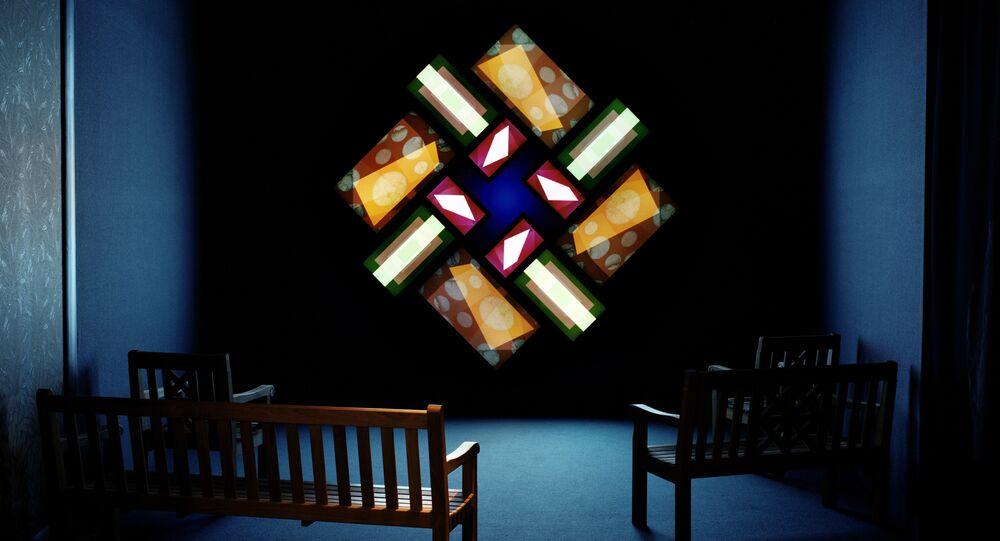 L'installazione al museo Swarovski Kristallwelten
