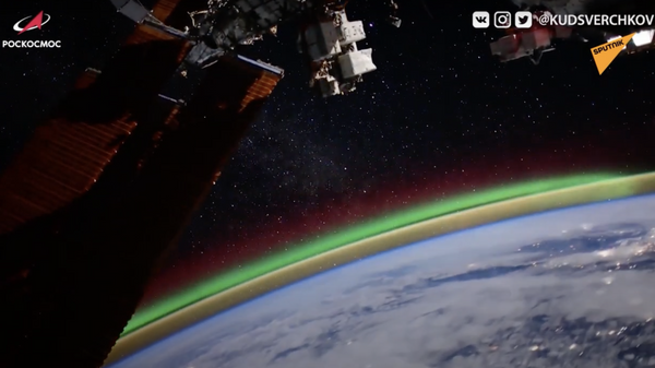L'aurora boreale vista dallo spazio - Sputnik Italia