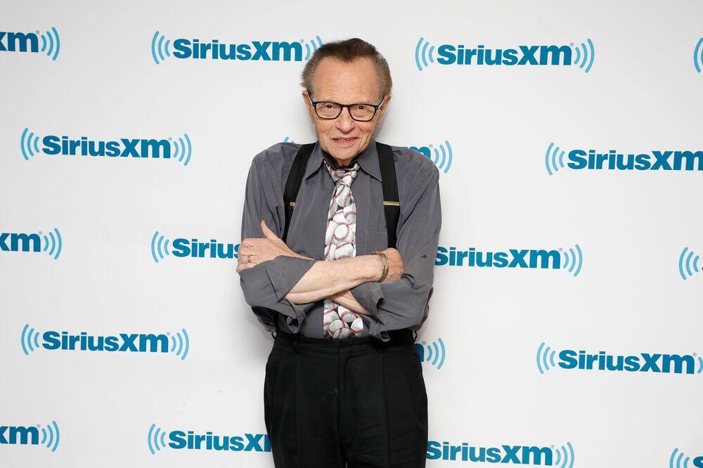 Il conduttore televisivo Larry King visita SiriusXM Studios, New York, 2017.