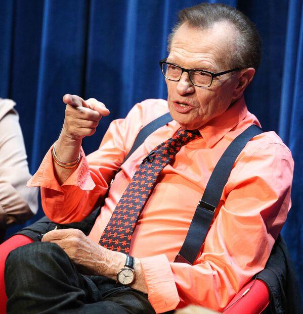 Il conduttore televisivo Larry King, 2014.  - Sputnik Italia
