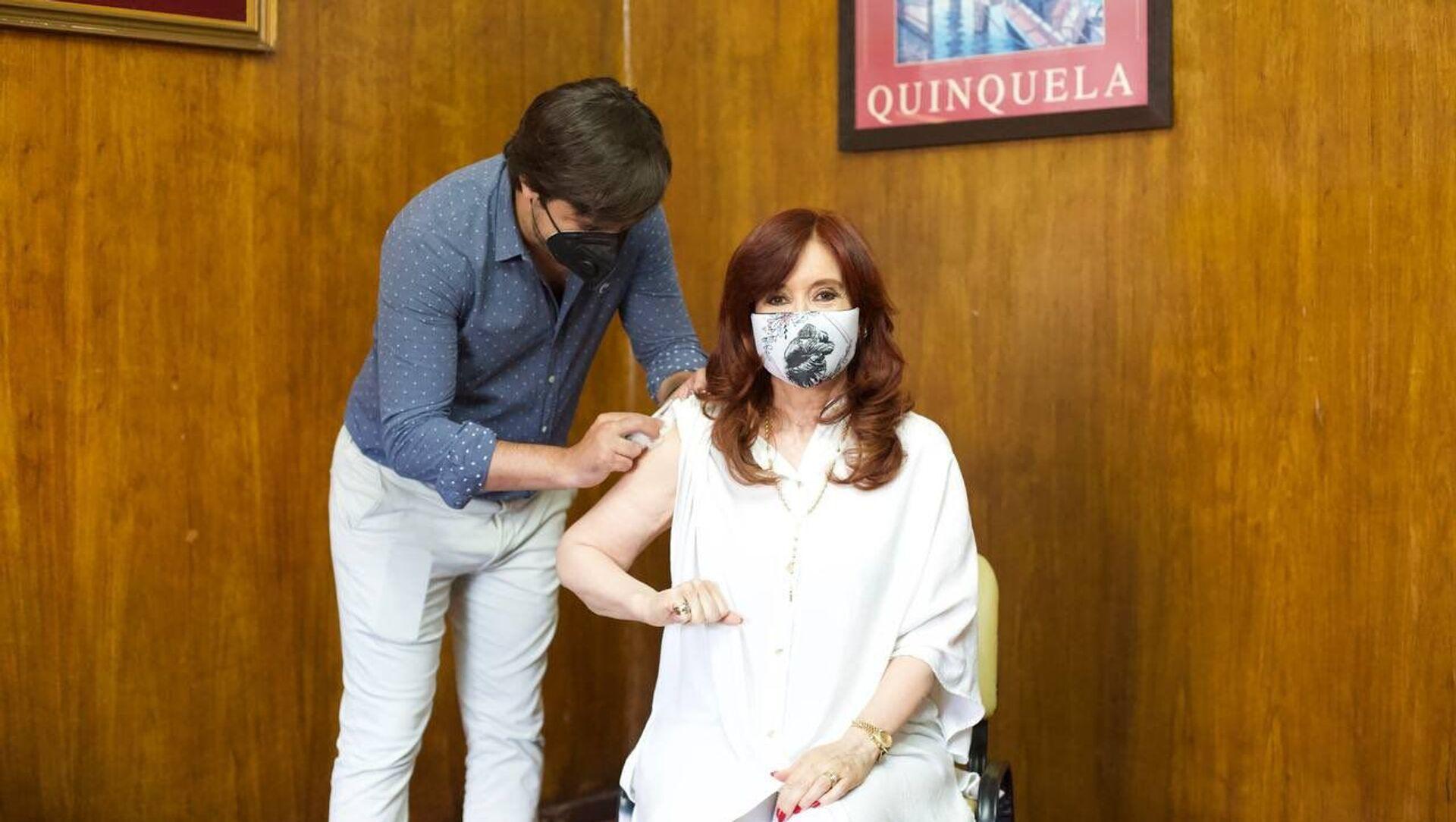 Vicepresidente argentina Cristina Fernández de Kirchner vaccinata con il vaccino russo  - Sputnik Italia, 1920, 08.02.2021