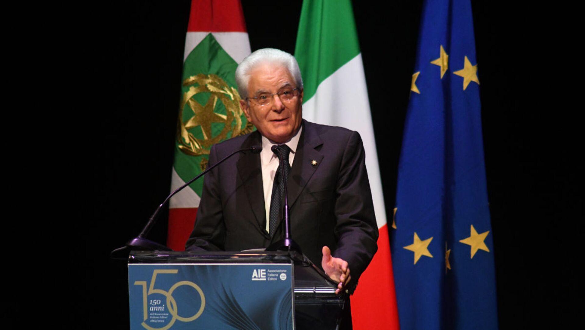 Il Presidente della Repubblica Sergio Mattarella ai 150 anni dell'Associazione Italiana Editori - Sputnik Italia, 1920, 15.05.2021