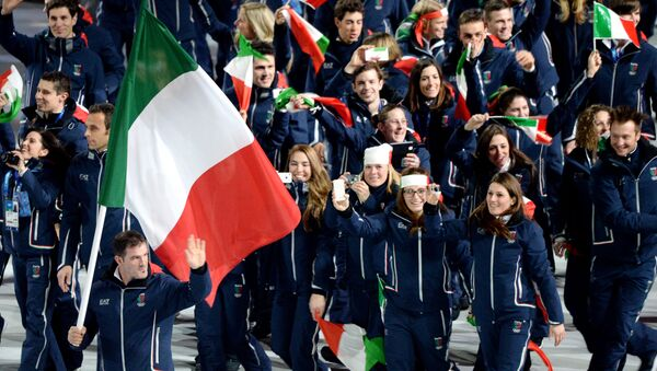 La cerimonia di apertura dei XXII Giochi Olimpici - Sputnik Italia