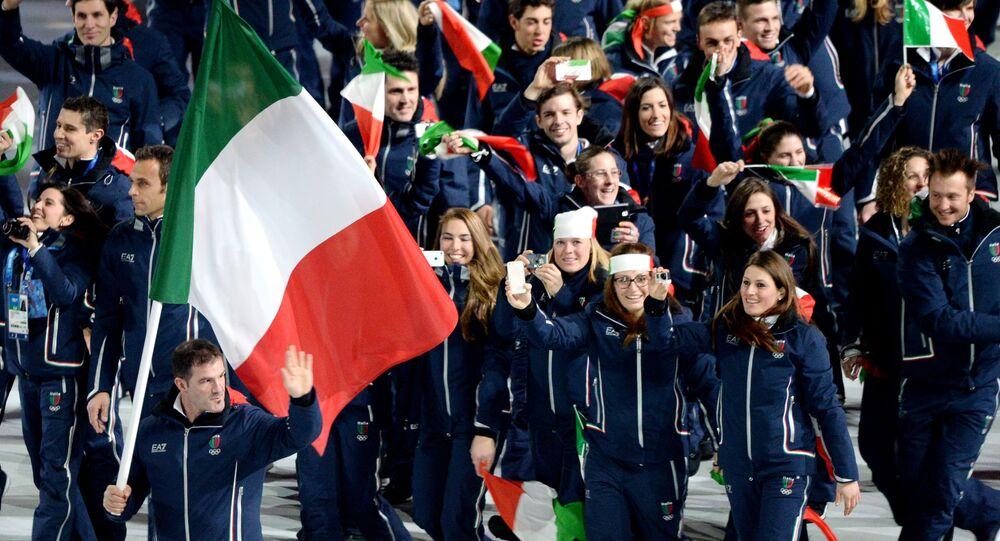 La cerimonia di apertura dei XXII Giochi Olimpici