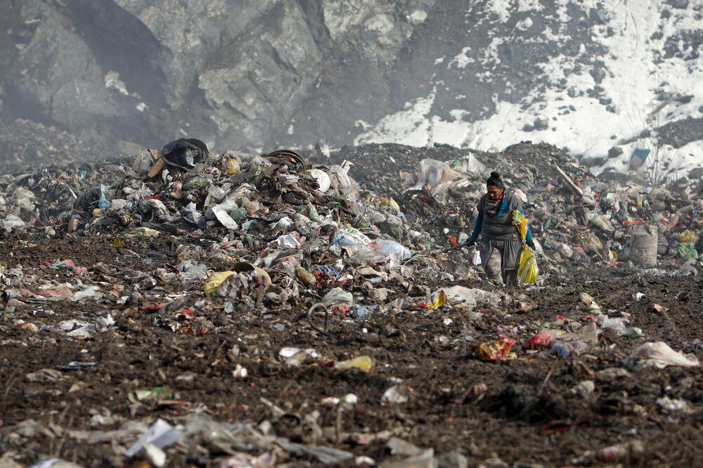 L'immondizia in una discarica vicino alla città di  Priboj in Serbia