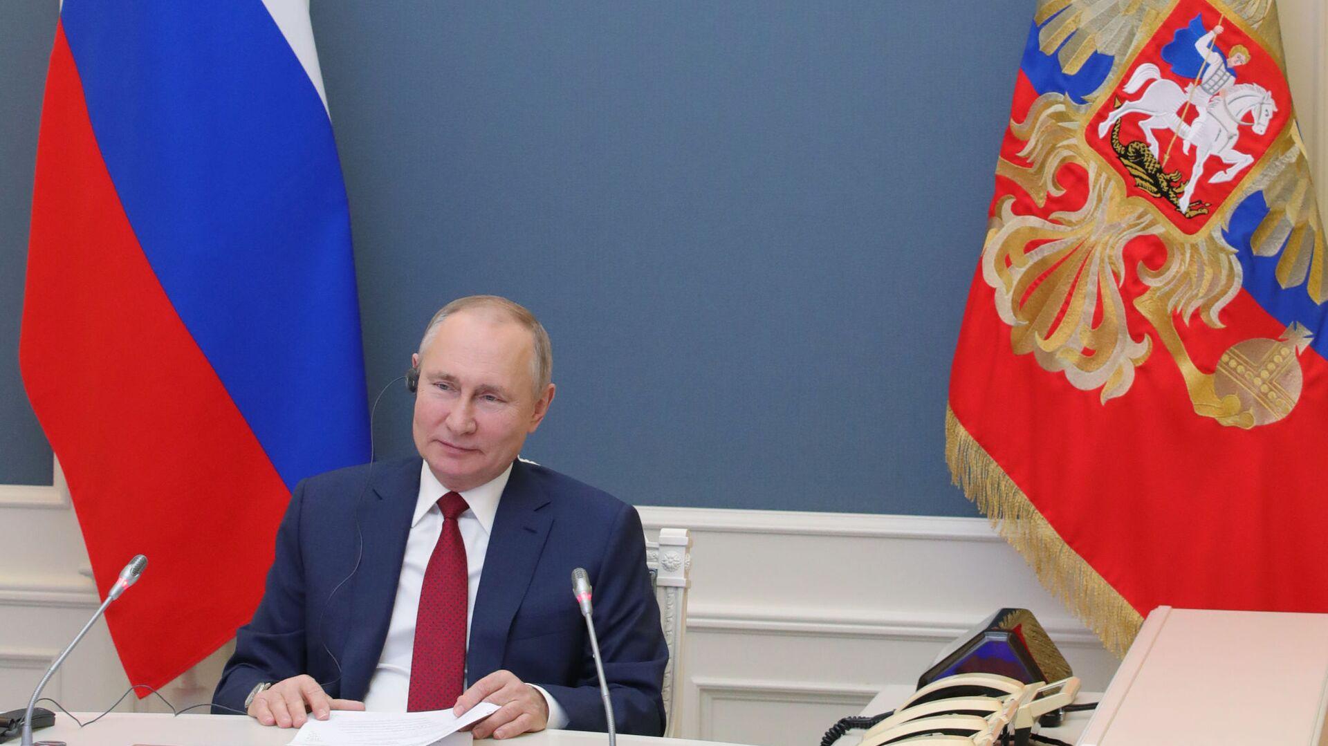 L'intervento di Putin al World Economic Forum di Davos - Sputnik Italia, 1920, 14.02.2021