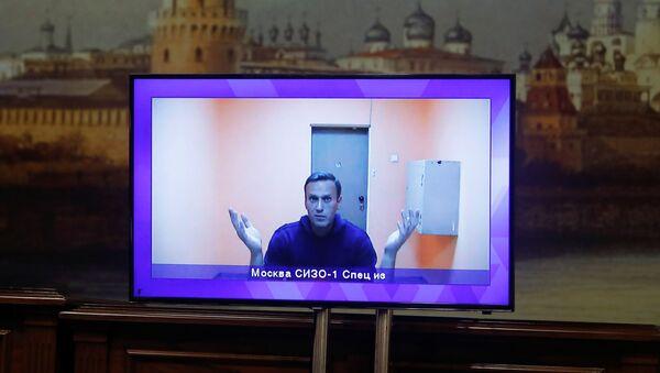 Alexey Navalny durante l'udienza - Sputnik Italia