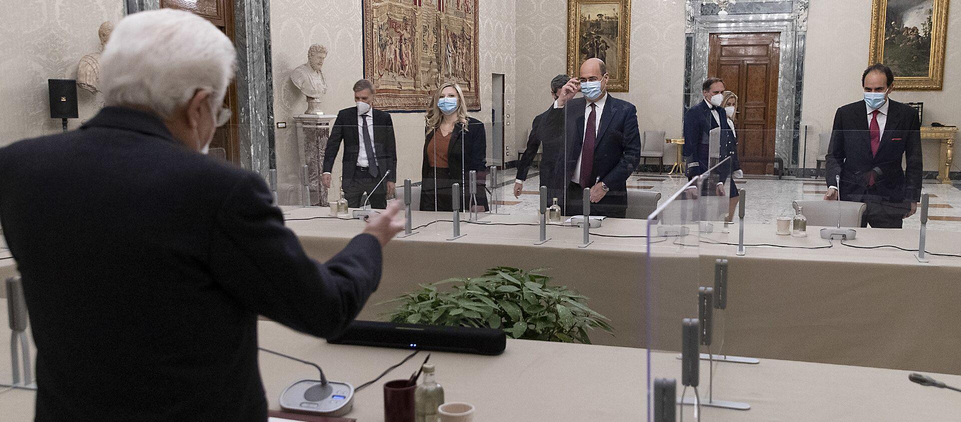 """Consultazioni - Gruppi Parlamentari """"Partito Democratico"""" del Senato della Repubblica e della Camera dei Deputati - Sputnik Italia, 1920, 29.01.2021"""