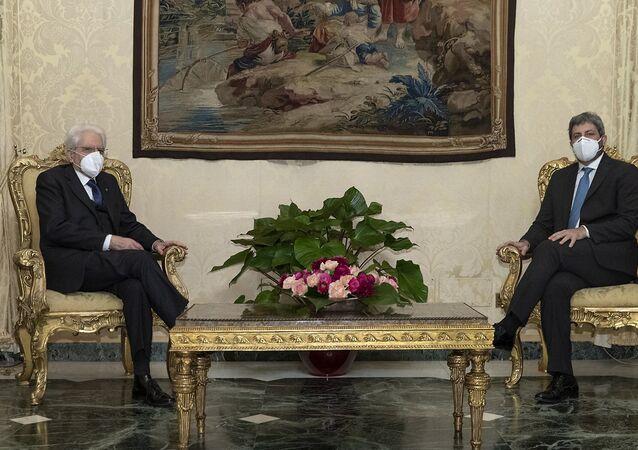 Il Presidente Mattarella riceve il Presidente della Camera dei deputati Roberto Fico