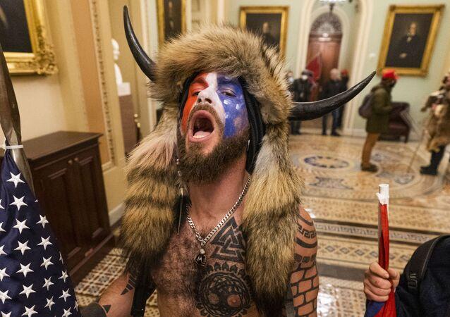 Manifestanti filo-Trump nel Congresso