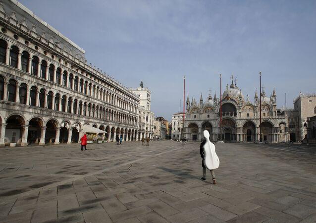 Piazza San Marco vuota a Venezia