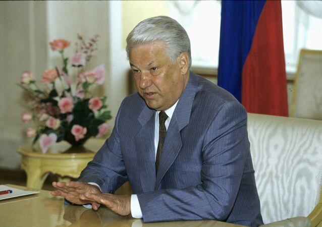 Boris Eltsin, il primo presidente della Federazione Russa.