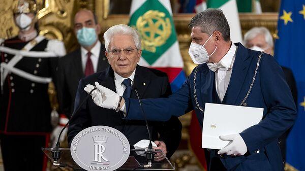 Roma - Il Presidente della Repubblica Sergio Mattarella, 2 febbraio 2021.(Foto di Paolo Giandotti - Ufficio per la Stampa e la Comunicazione della Presidenza della Repubblica) - Sputnik Italia