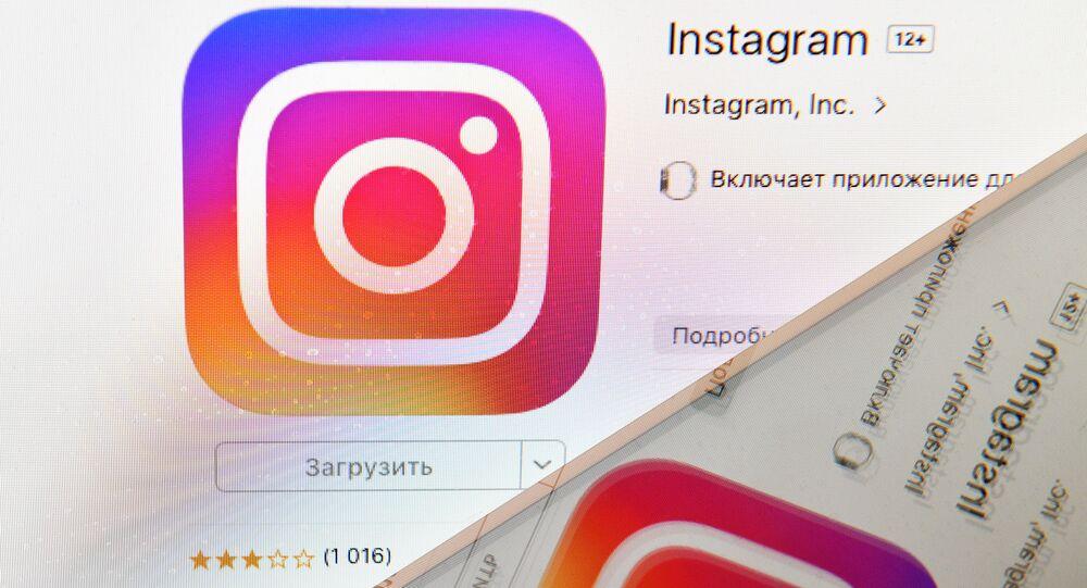 Logo di Instagram sullo schermo di uno smartphone