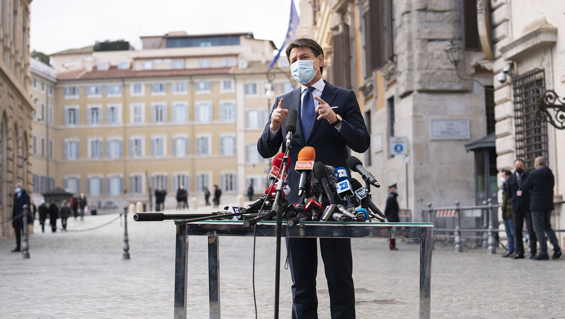 Giuseppe Conte incontra la stampa  - Sputnik Italia, 1920, 12.05.2021