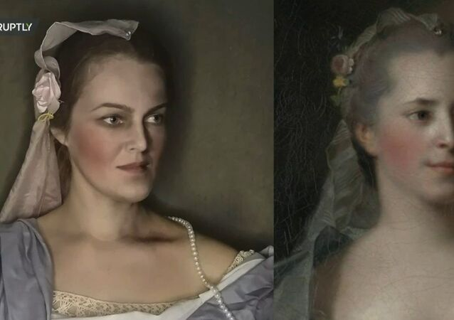 Arte in carne e ossa: una donna russa crea copie viventi di dipinti famosi