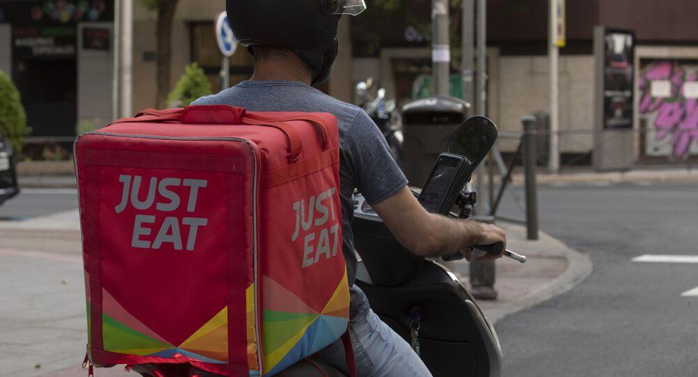 Un servizio in rete di ordinazione e consegna pasti Just Eat