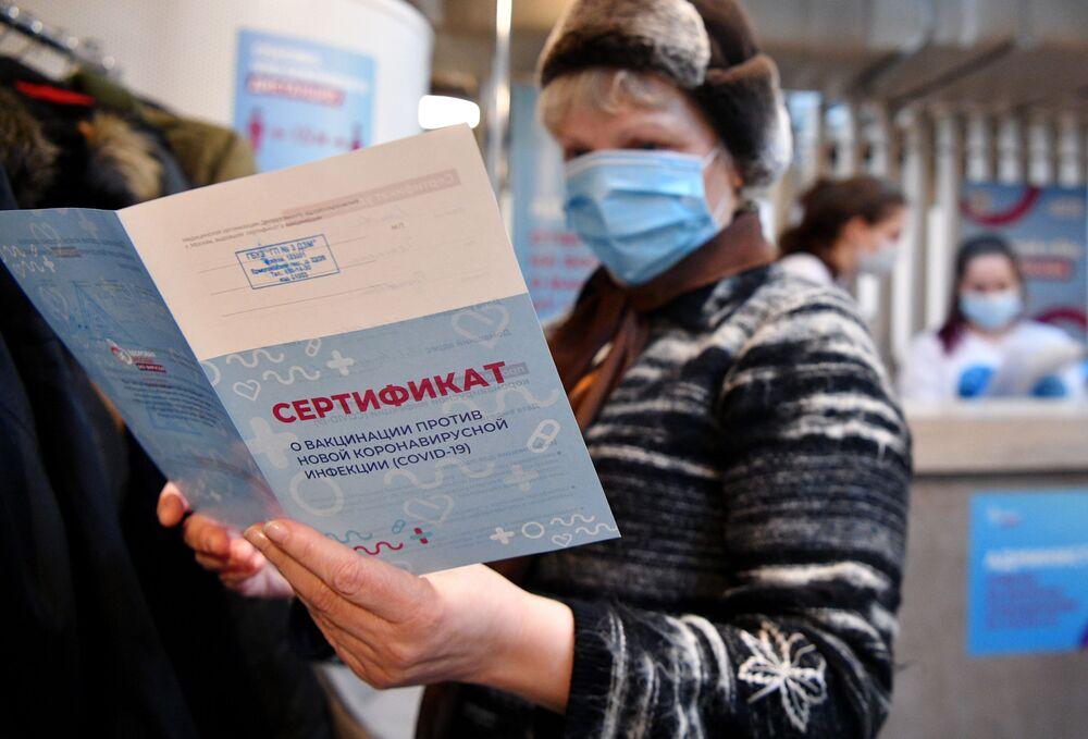 Al termine della procedura, viene rilasciato un certificato di vaccinazione dal nuovo coronavirus, Covid-19