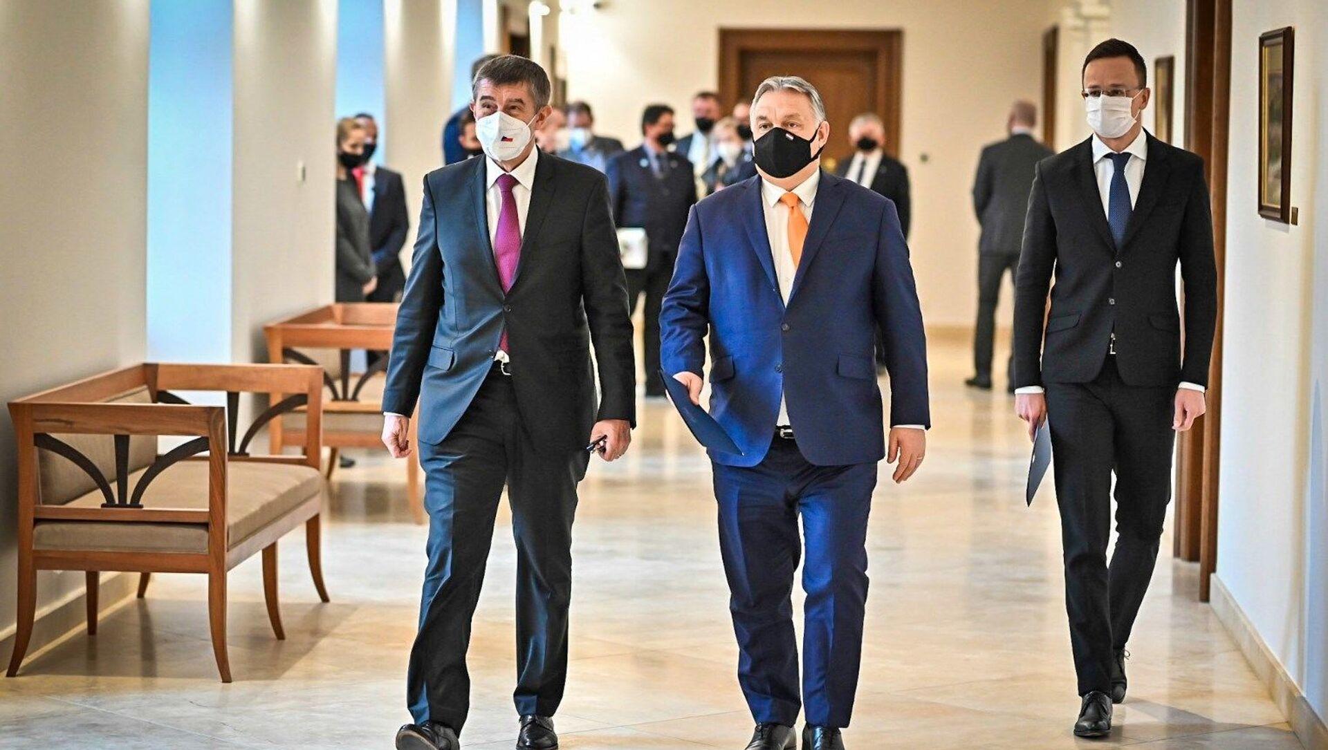 Il primo ministro ceco Andrej Babis e il primo ministro ungherese Viktor Orban a Budapest - Sputnik Italia, 1920, 05.02.2021