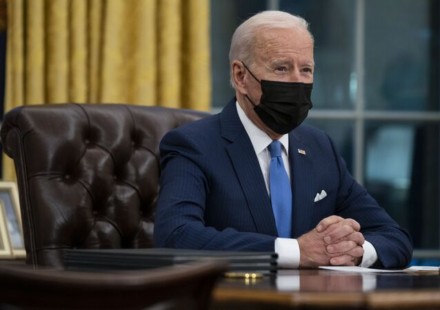 President Joe Biden delivers remarks on immigration, in the Oval Office of the White House, Tuesday, Feb. 2, 2021, in Washington.