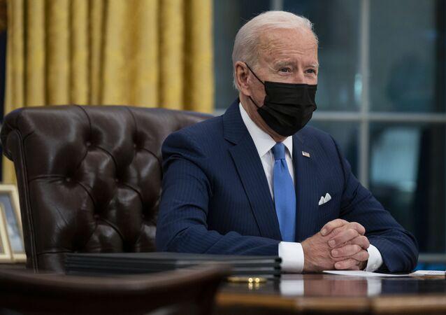 Joe Biden all'Ufficio Ovale (foto d'archivio)