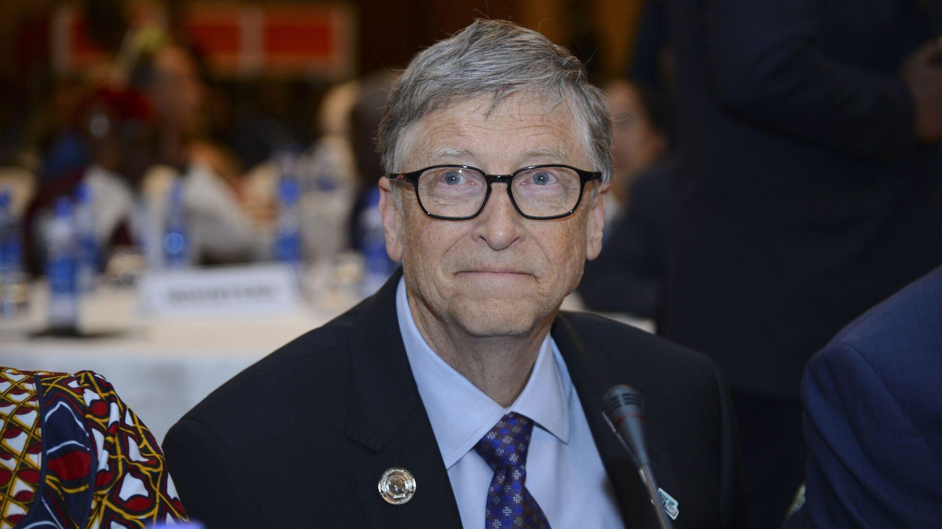 Bill Gates, presidente della 'Bill & Melinda Gates Foundation', partecipa all'Africa Leadership Meeting - Investing in Health Outcomes tenutosi in un hotel di Addis Abeba, in Etiopia, 9 febbraio 2019.  - Sputnik Italia, 1920, 24.02.2021