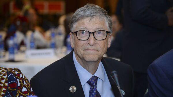 Bill Gates, presidente della 'Bill & Melinda Gates Foundation', partecipa all'Africa Leadership Meeting - Investing in Health Outcomes tenutosi in un hotel di Addis Abeba, in Etiopia, 9 febbraio 2019.  - Sputnik Italia