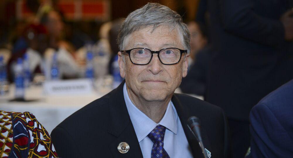 Bill Gates, presidente della 'Bill & Melinda Gates Foundation', partecipa all'Africa Leadership Meeting - Investing in Health Outcomes tenutosi in un hotel di Addis Abeba, in Etiopia, 9 febbraio 2019.