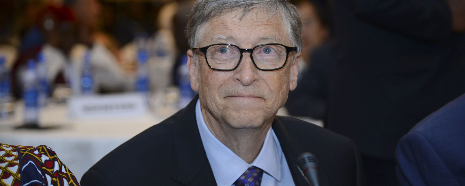 Bill Gates, presidente della 'Bill & Melinda Gates Foundation', partecipa all'Africa Leadership Meeting - Investing in Health Outcomes tenutosi in un hotel di Addis Abeba, in Etiopia, 9 febbraio 2019.  - Sputnik Italia, 1920, 08.02.2021