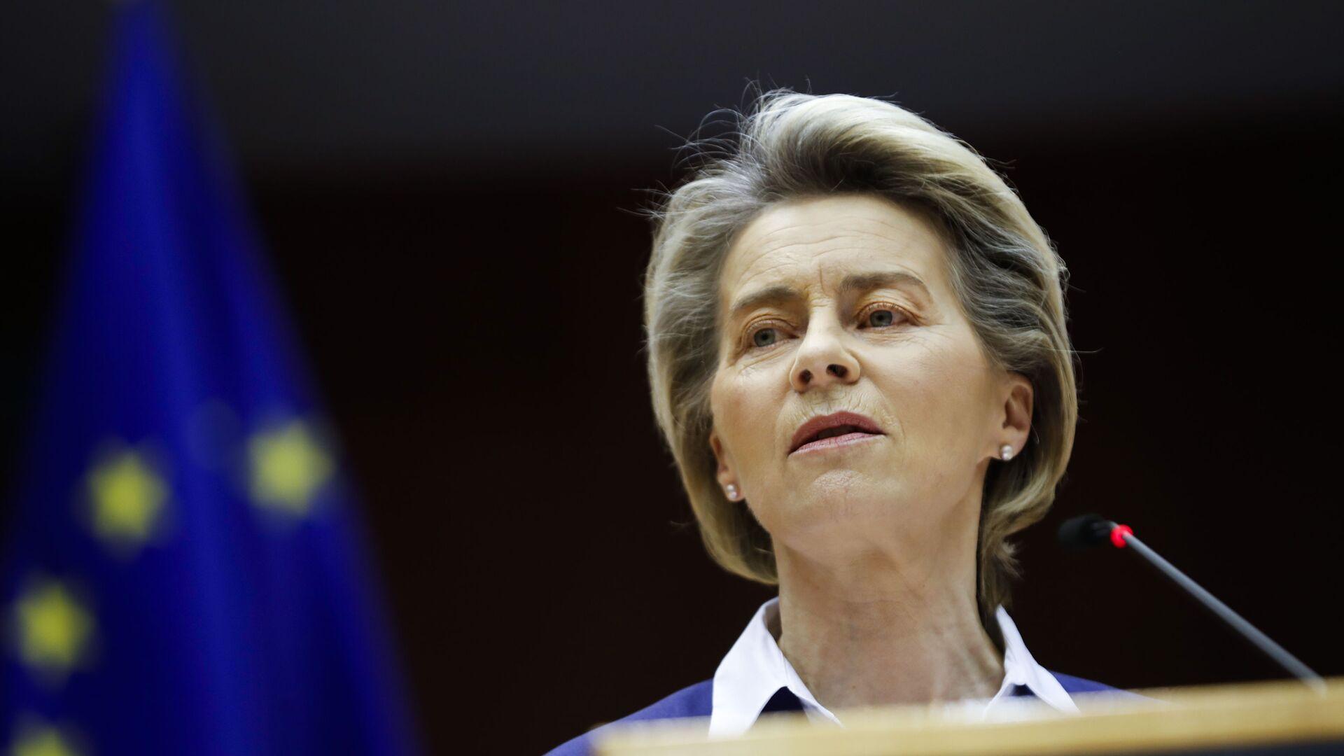 La presidente della Commissione Ursula von der Leyen - Sputnik Italia, 1920, 01.05.2021