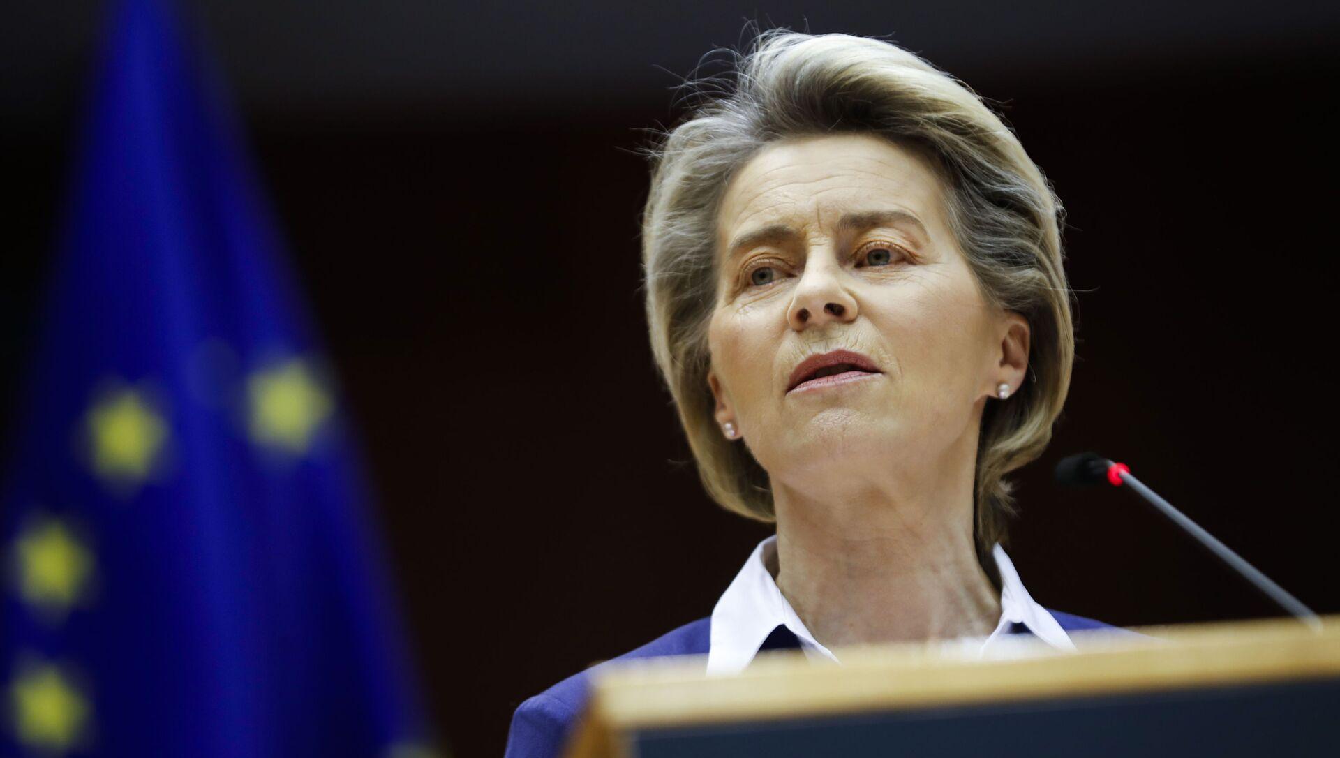 La presidente della Commissione Ursula von der Leyen - Sputnik Italia, 1920, 27.04.2021
