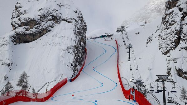La pista Olimpia delle Tofane a Cortina d'Ampezzo - Sputnik Italia