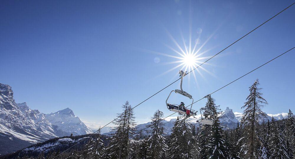 Una seggiovia a Cortina d'Ampezzo