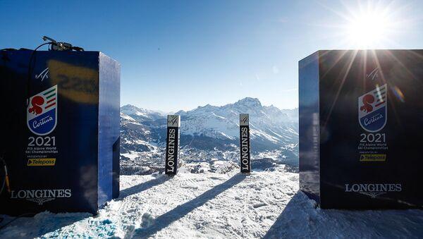 Il cancelletto di partenza dei Mondiali di Sci Alpino Cortina 2021 - Sputnik Italia