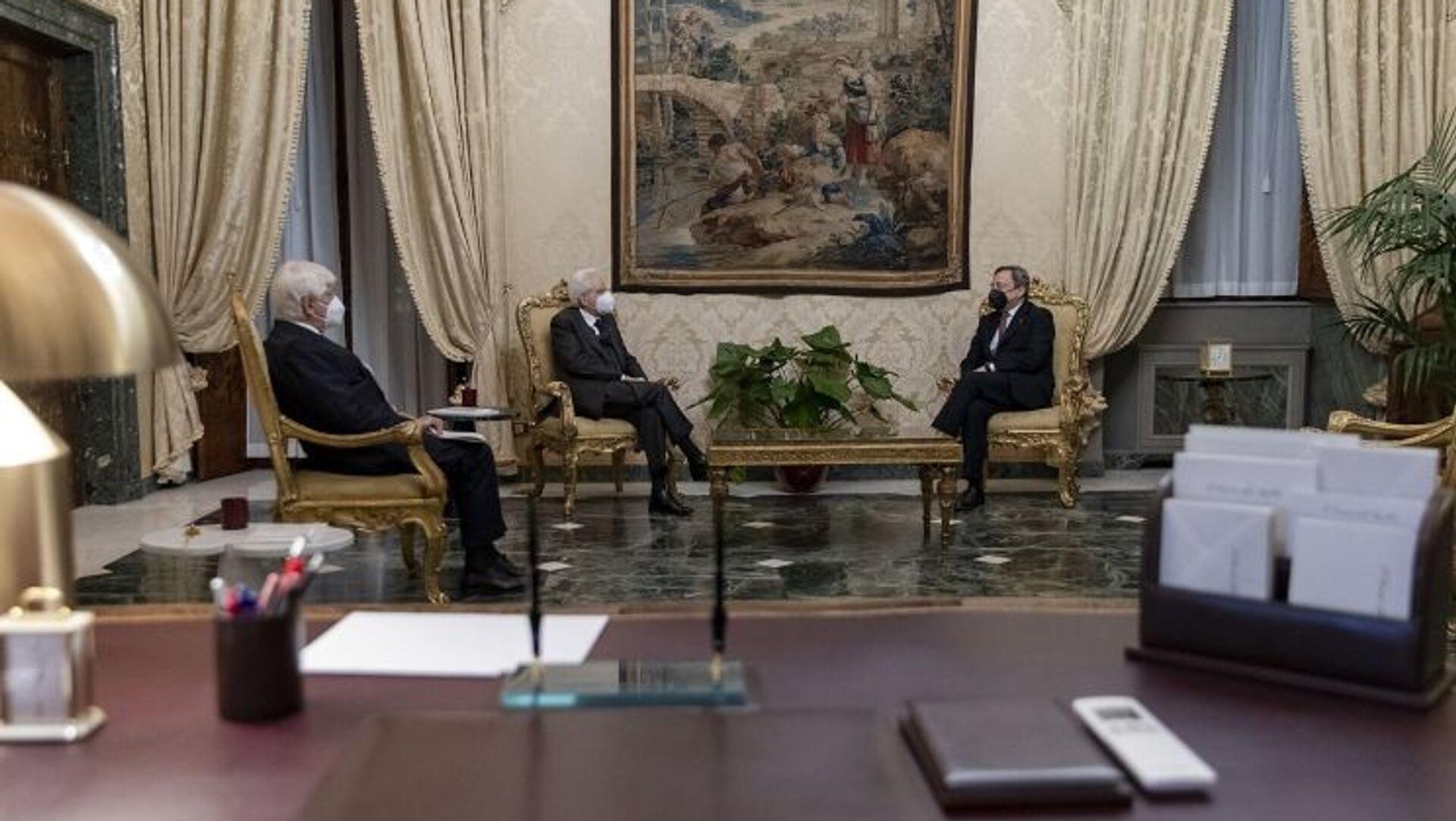 Draghi scioglie la riserva: l'Italia ha un nuovo governo - Sputnik Italia, 1920, 12.02.2021