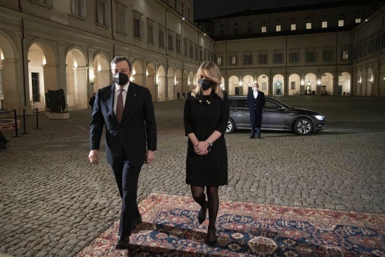 L'arrivo di Draghi al Quirinale